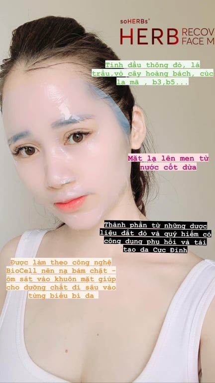 Mặt Nạ HERB Recovery Face Mask soHERBs